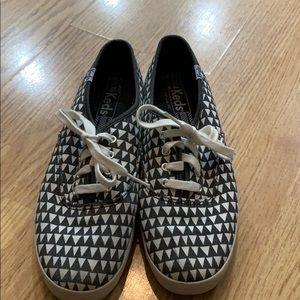 Keds black & white geometric print sneakers size 8